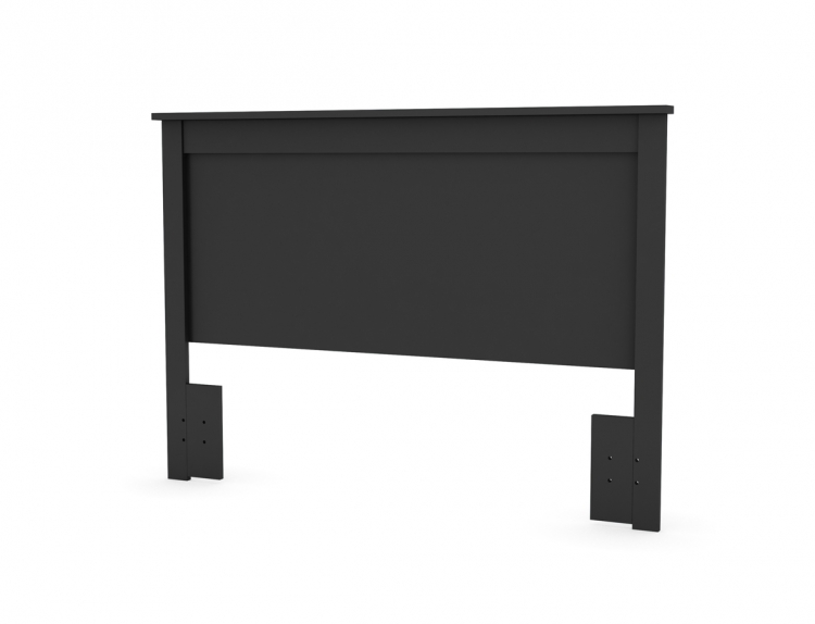 Vito Solid Black Queen Headboard - South Shore