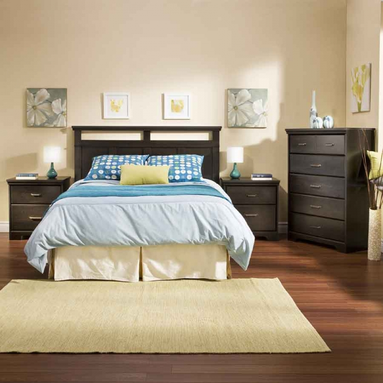 Versa Ebony Romance Bedroom Collection - South Shore