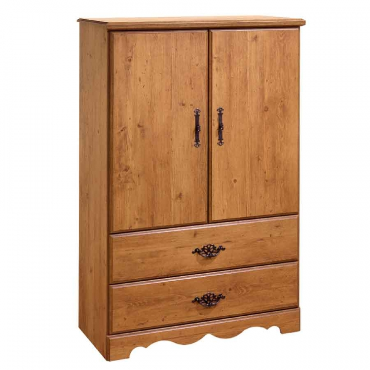 Prairie Country Pine Door Chest - South Shore