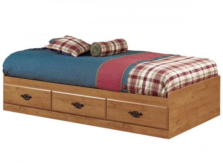 Prairie Country Pine Twin Mates Bed - South Shore
