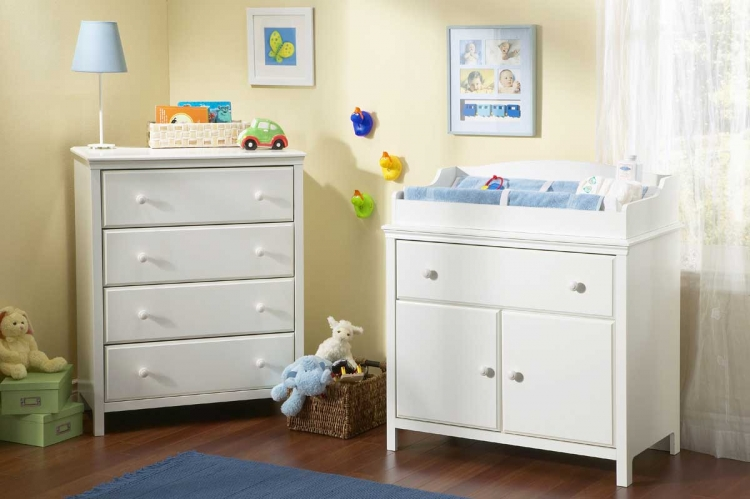 Cotton Candy Pure White Nursery Collection - South Shore