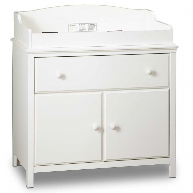 Cotton Candy Pure White Changing Table - South Shore