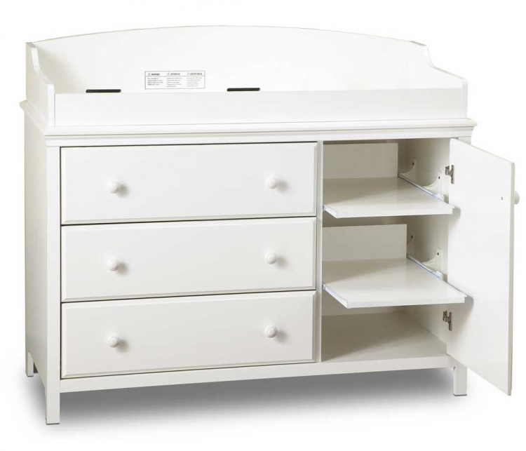 Cotton Candy Pure White Plenty Changing Table - South Shore