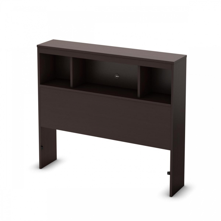 Cakao Chocolate Bookcase Headboard - South Shore