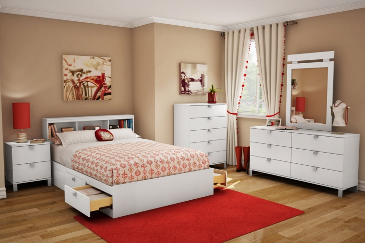 Sparkling Bedroom Set - Pure White - South Shore