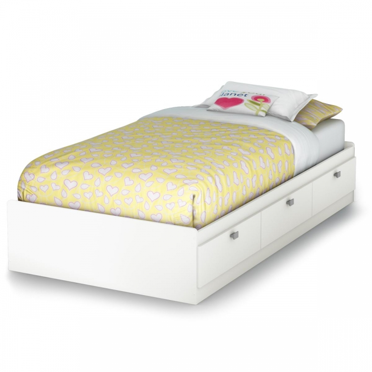 Sparkling Twin Mates Bed - Pure White