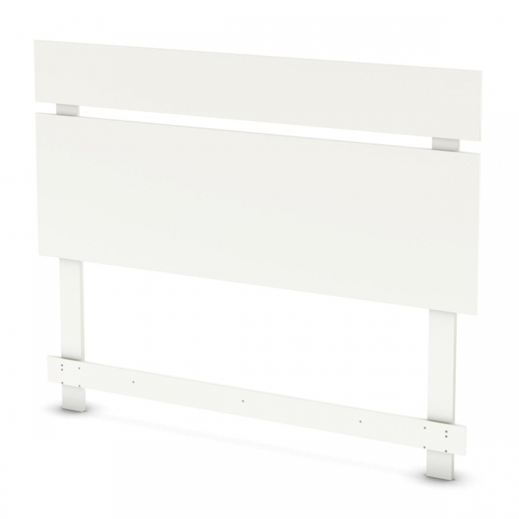 Sparkling Full - Queen Headboard - Pure White - South Shore