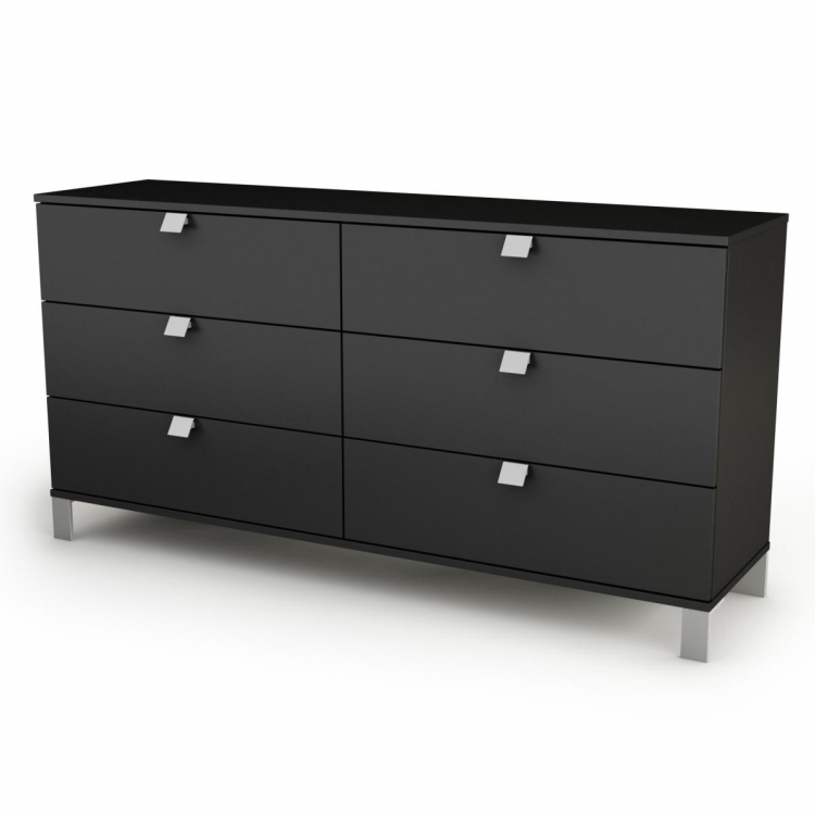 Spark 6 Drawer Dresser - Pure Black - South Shore