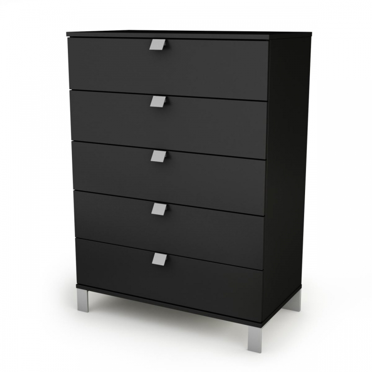 Spark 5 Drawer Chest - Pure Black - South Shore