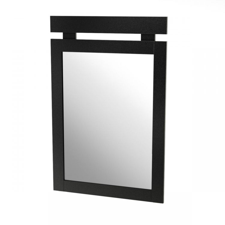 Spark Mirror 29 Inch x 43 Inch - Pure Black - South Shore