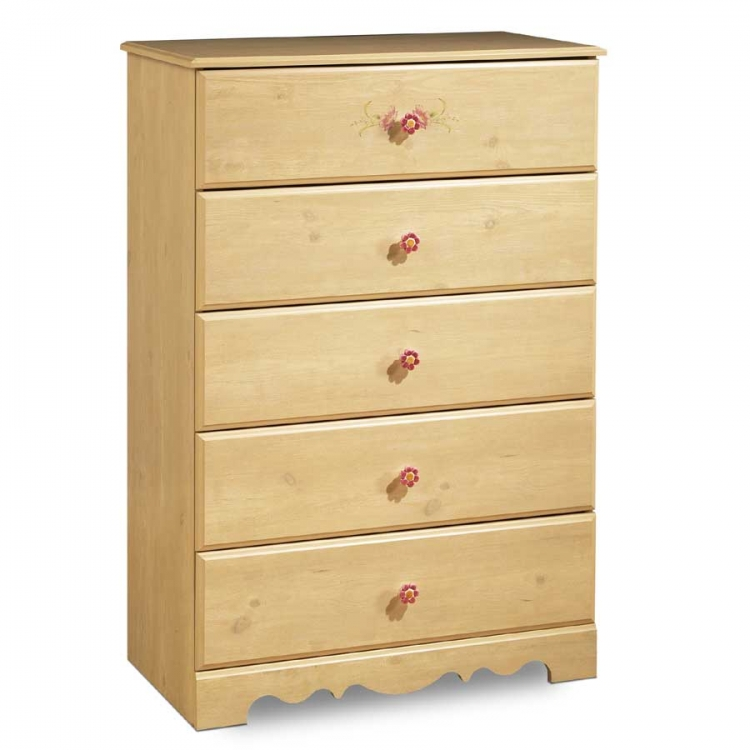 Lily Rose Romantic Pine 5 Drawer Chest - South Shore