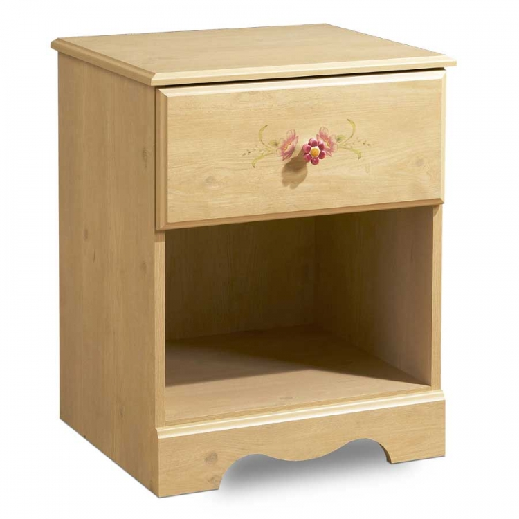 Lily Rose Romantic Pine Night Stand