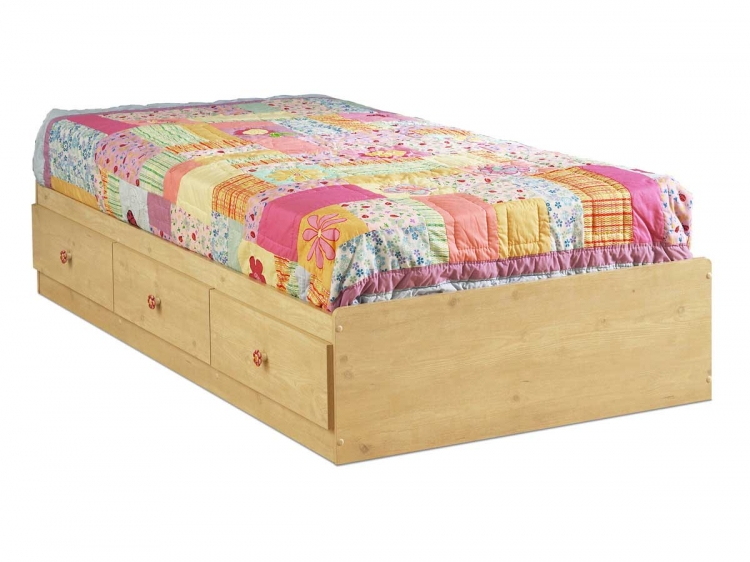 Lily Rose Romantic Pine Twin Mates Bed - South Shore