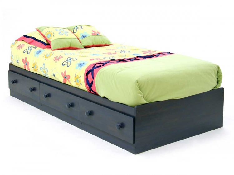 Summer Breeze Blueberry Twin Mates Bed - South Shore