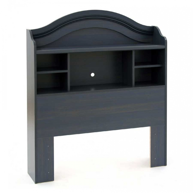 Summer Breeze Blueberry Twin Bookcase Headboard - South Shore