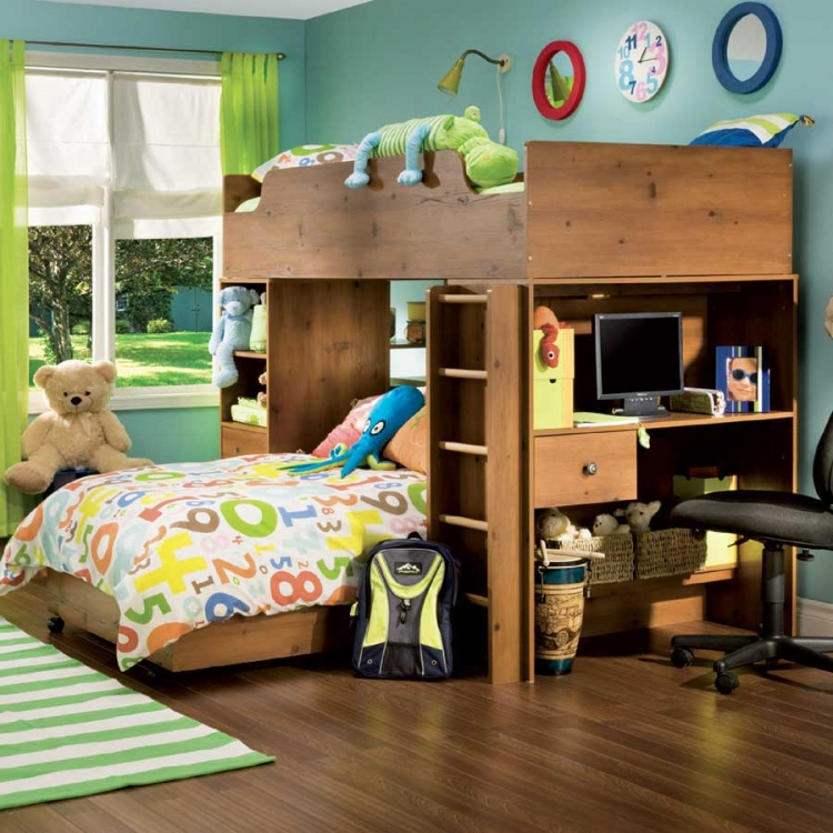 Logik Sunny Pine Kids Loft Bedroom Collection - South Shore
