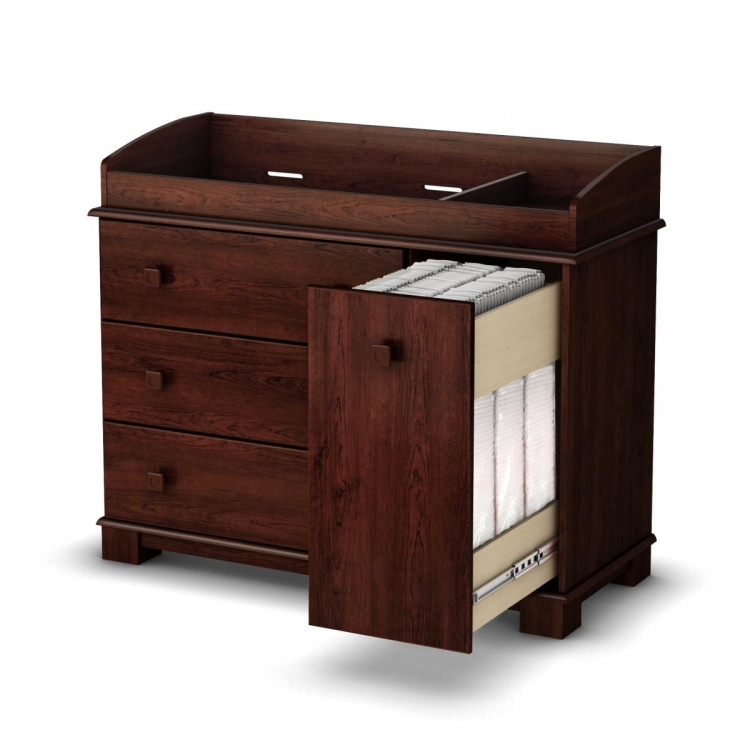 Precious Changing Table - Royal Cherry - South Shore