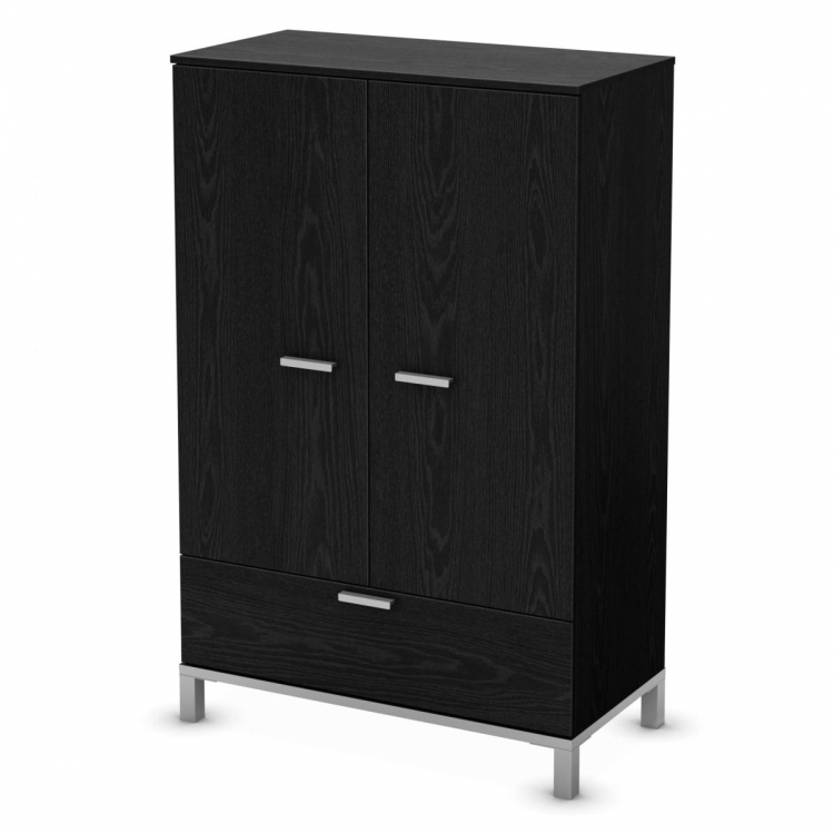 Flexible Door Chest - Black Oak - South Shore