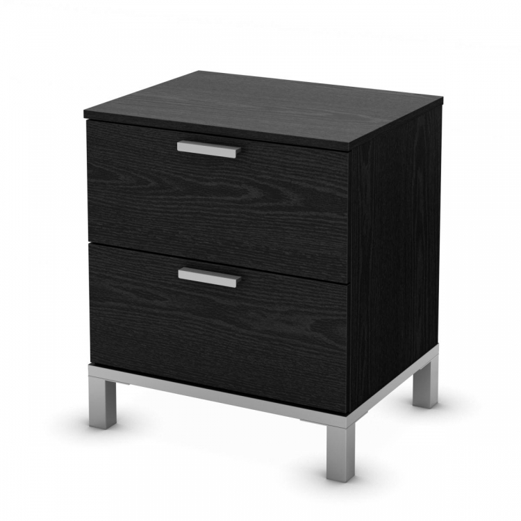 Flexible Night Stand - Black Oak