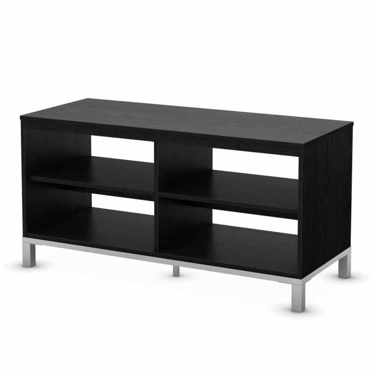 Flexible TV Stand - Black Oak - South Shore