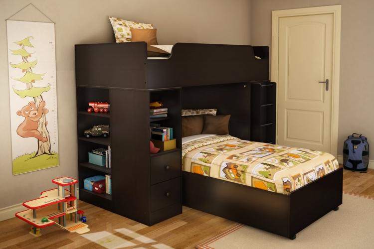 Logik Twin Loft Bed Set - Chocolate