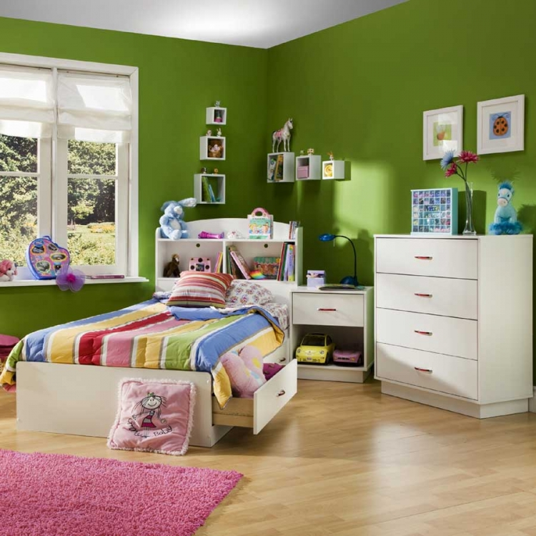 Logik Pure White Kids Bedroom Collection - South Shore