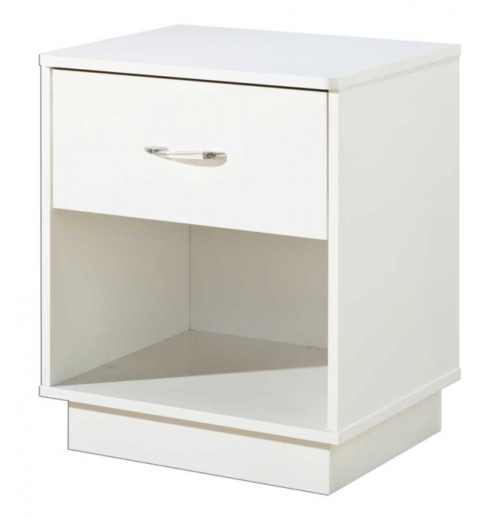 Logik Pure White Night Stand - South Shore