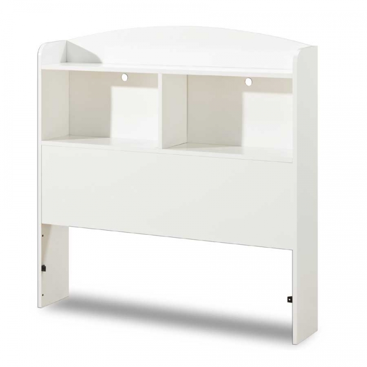Logik Pure White Twin Bookcase Headboard - South Shore