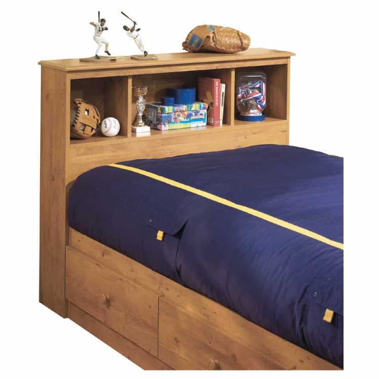 Little Treasures Country Pine Twin Bookcase Headboard
