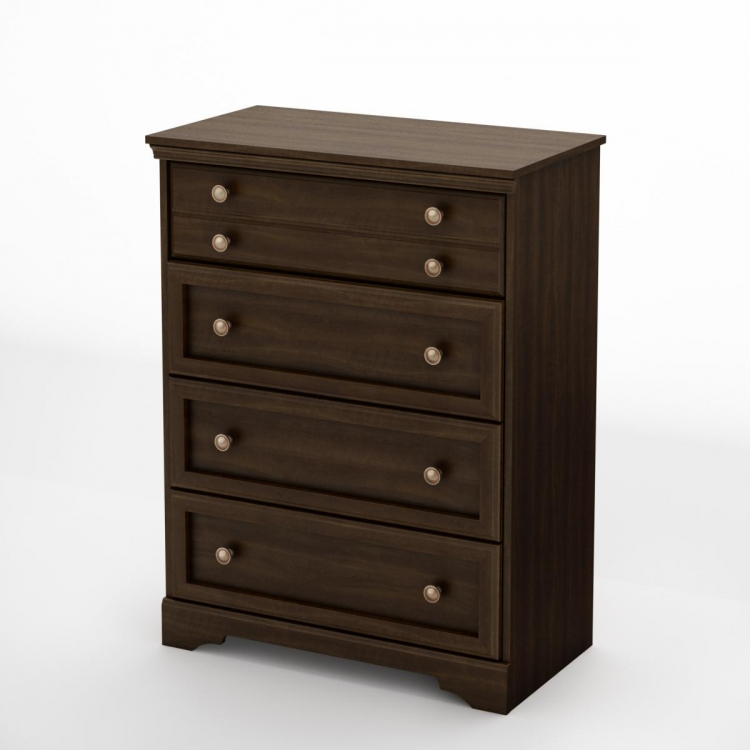 Sebastian 4 Drawer Chest - Mocha - South Shore