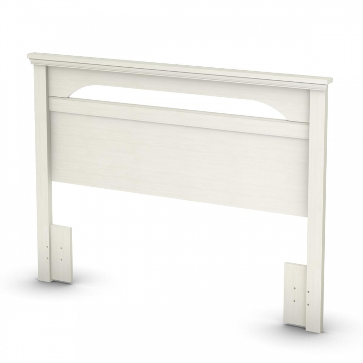 Noble Full - Queen Headboard - White Wash - South Shore