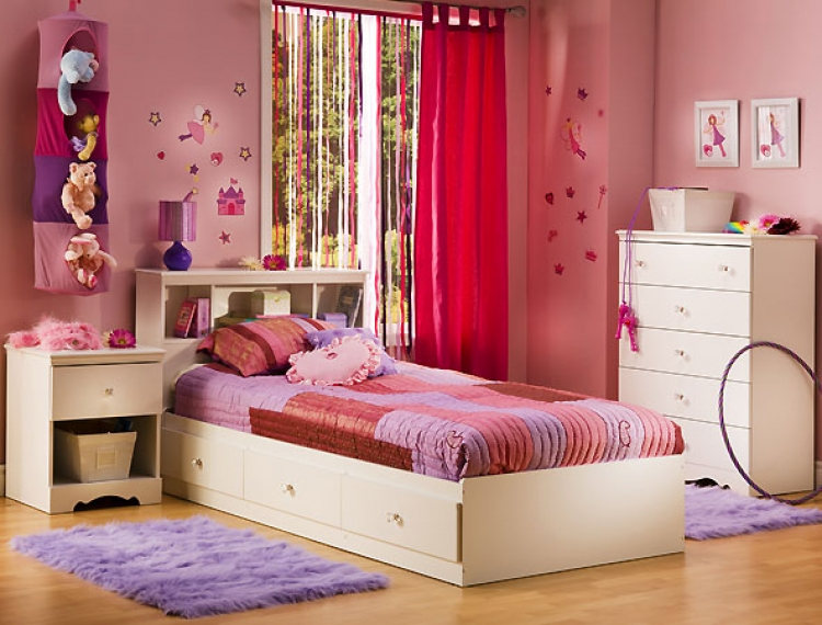 Crystal Pure White Kids Bedroom Collection