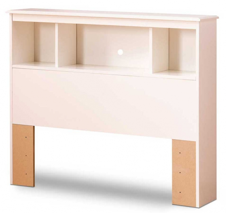 South Shore Crystal Pure White Twin Bookcase Headboard
