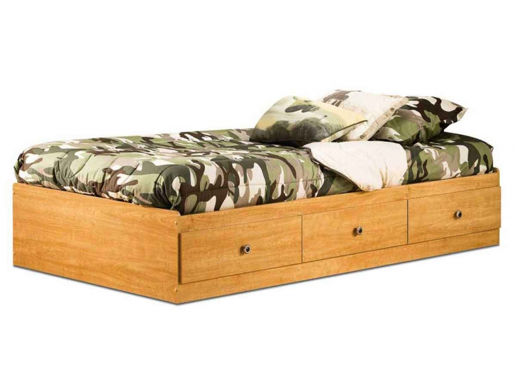 Zach Florence Maple Twin Mates Bed - South Shore