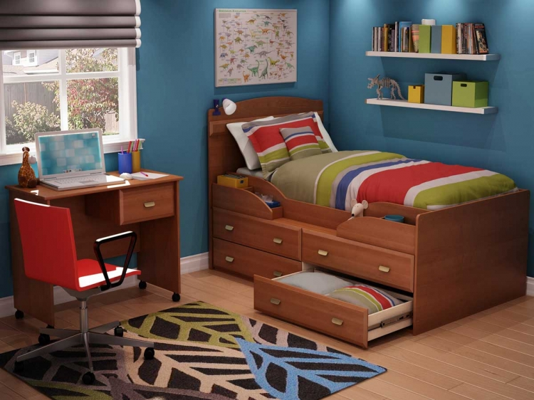 Imagine Morgan Cherry Twin Captain Kids Bedroom Collection - South Shore