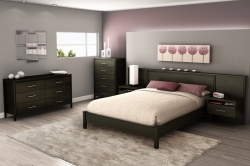 Gravity Bedroom Set - Ebony - South Shore