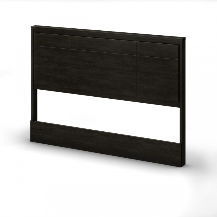 Gravity Full - Queen Headboard - Ebony - South Shore