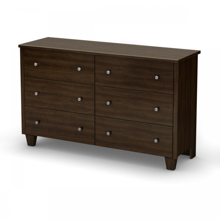Clever Room 6 Drawer Dresser - Mocha - South Shore
