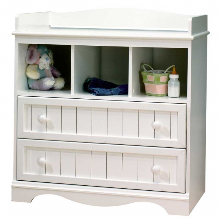 Country Baby Furniture Pure White Changing Table - South Shore