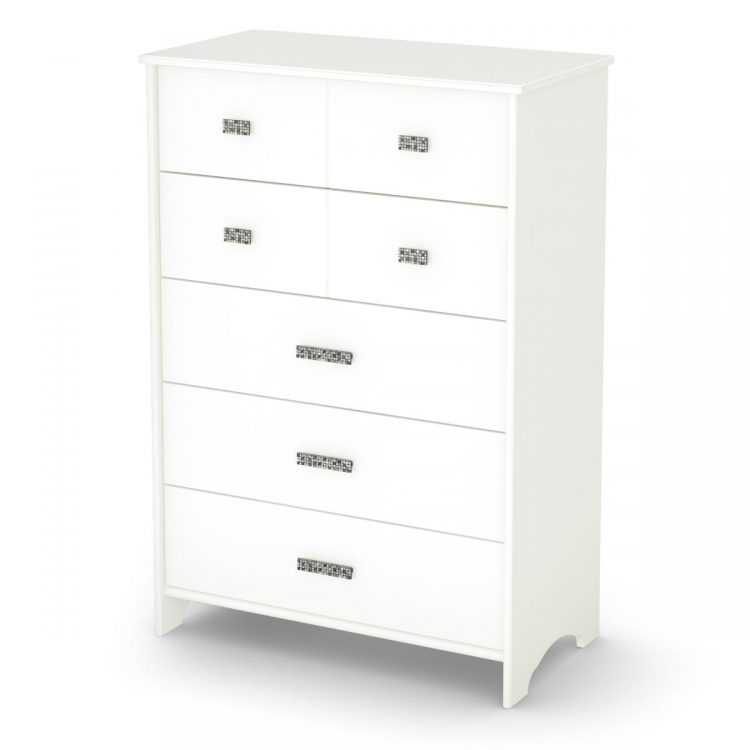 Tiara 5 Drawer Chest - Pure White