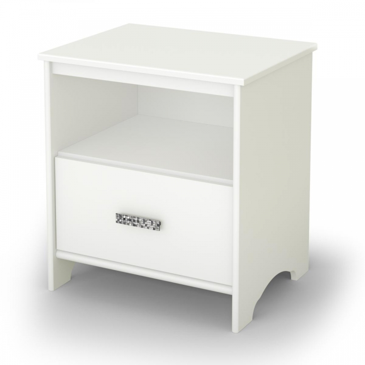 Tiara Night Stand - Pure White - South Shore