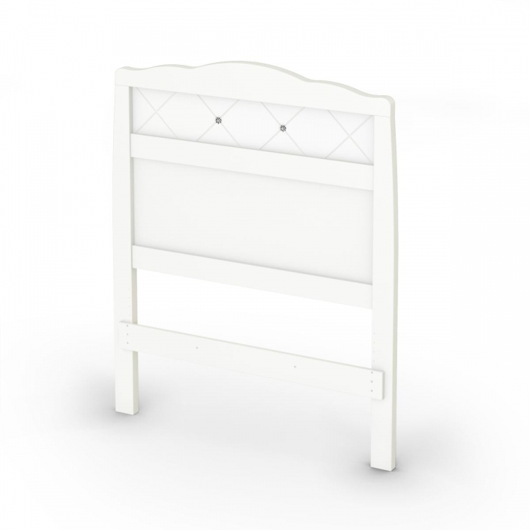 Tiara Twin Headboard - Pure White - South Shore