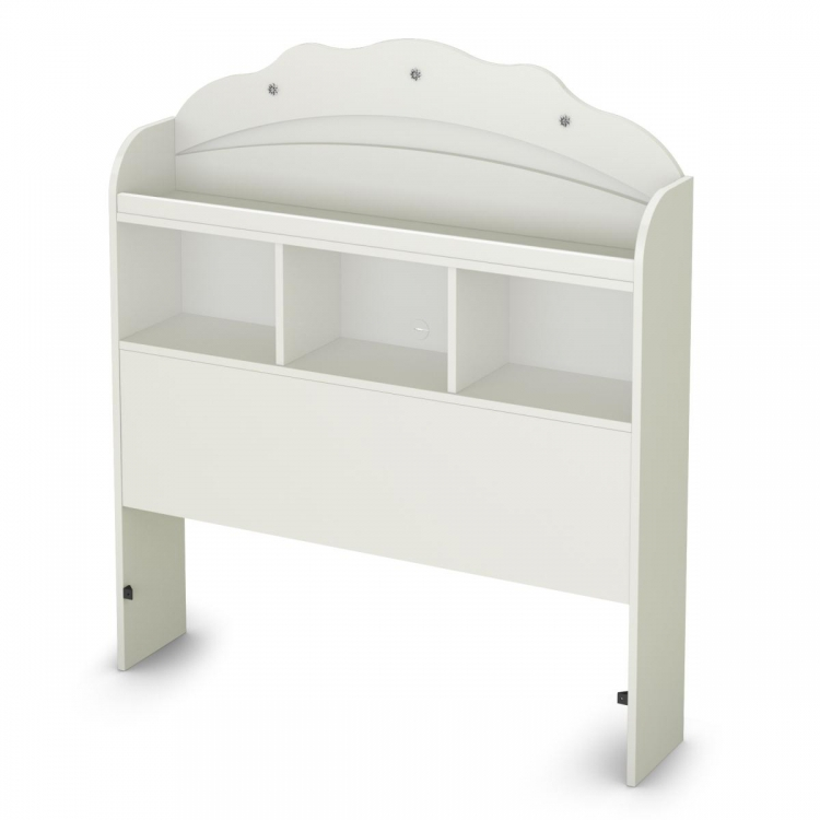 Tiara Twin Bookcase Headboard - Pure White - South Shore