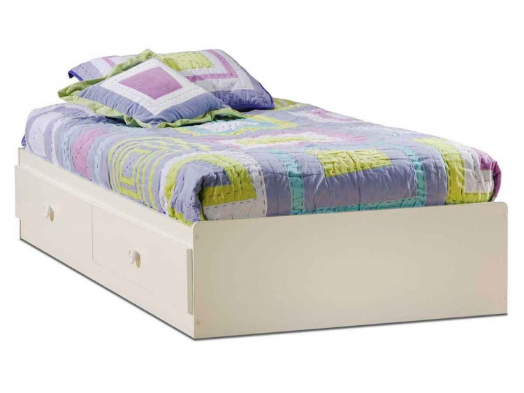 Sand Castle Pure White Twin Mates Bed