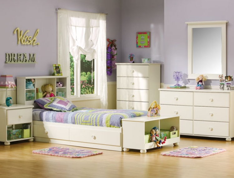 Sand Castle Pure White Kids Bedroom Collection