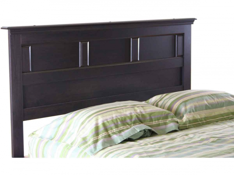 Mountain Lodge Ebony Queen/Full Elegant Headboard - South Shore