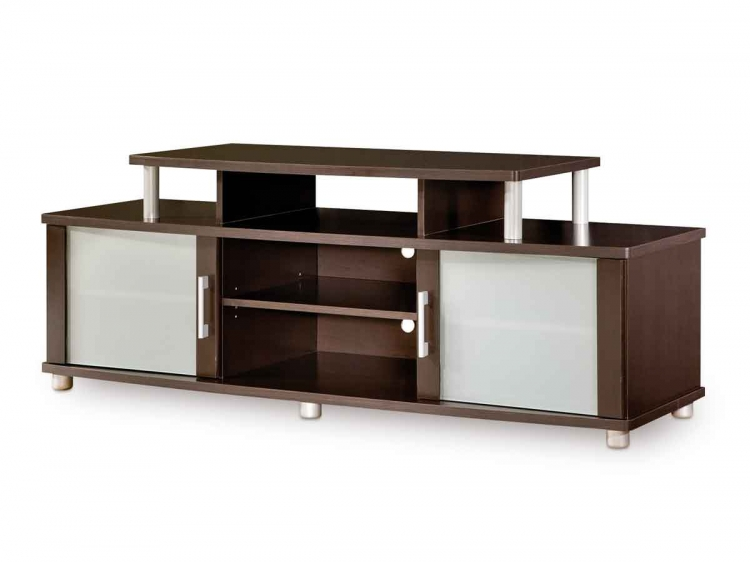 City Life Chocolate TV Stand