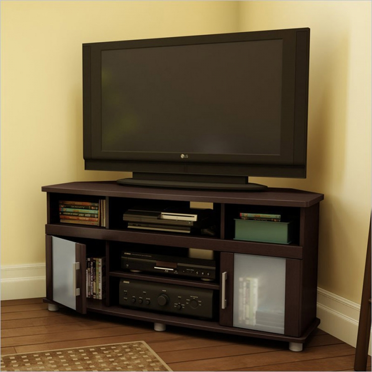 City Life Espresso Corner TV Stand