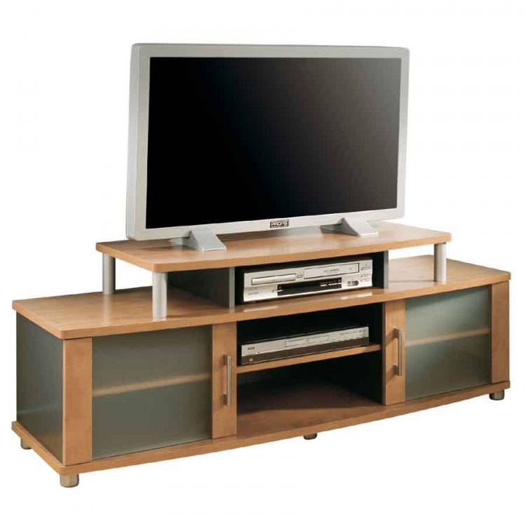 City Life Honeydew and Charcoal TV Stand