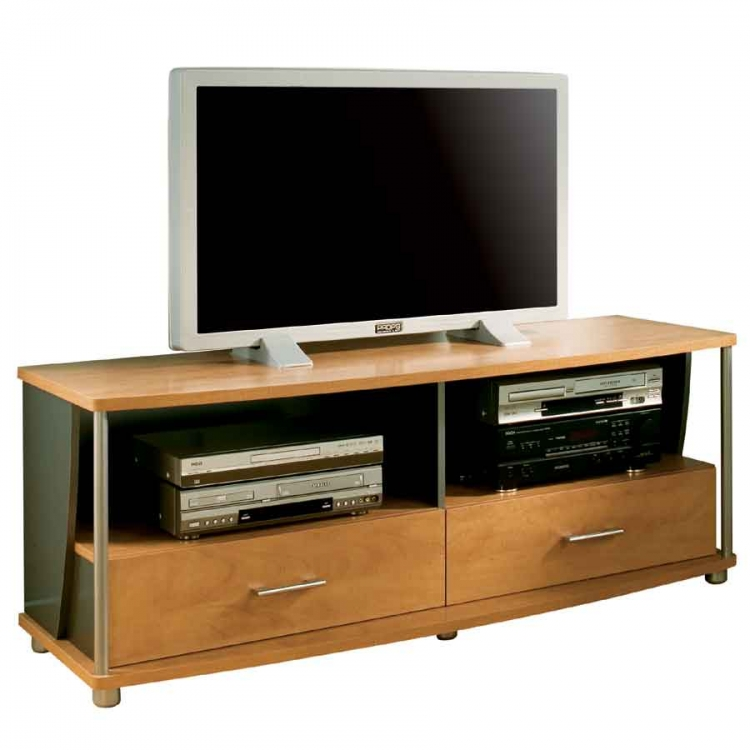 City Life Honeydew and Charcoal 50in TV Stand